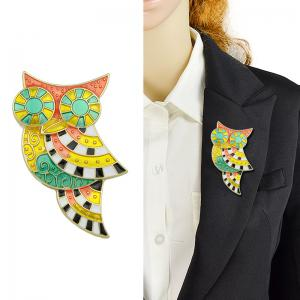 Owl Geometric Brooch