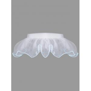 Mesh Tutu Light Up Cosplay Party Skirt - White - One Size