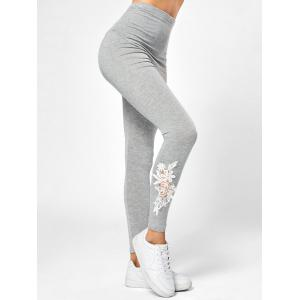 Lace Applique Maternity Pants
