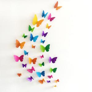 Home Decor 3D Butterfly DIY Wall Sticker Set - Colormix - W71 Inch*l79 Inch
