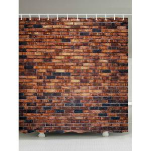 Brick Wall Pattern Waterproof Fabric Bathroom Shower Curtain - Brick-red - W71 Inch * L79 Inch