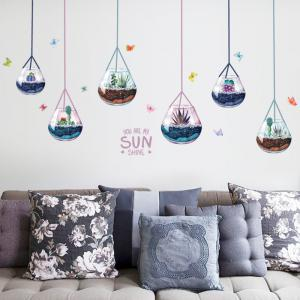 Removable Decoration Hanging Plants Wall Sticker