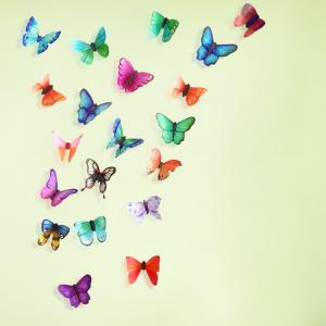 3D Butterfly DIY Wall Stickers Set Home Decoration - Colormix - Pattern B