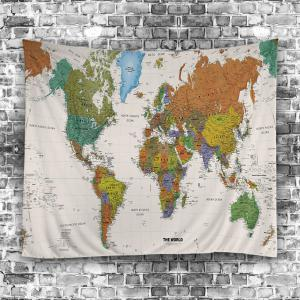 Colormix w79 inch l59 inch world map print tapestry wall hanging world map print tapestry wall hanging art decoration gumiabroncs Gallery
