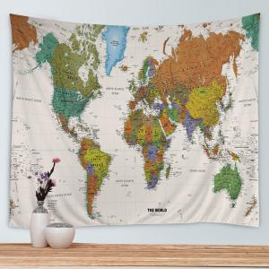 Colormix w79 inch l59 inch world map print tapestry wall hanging world map print tapestry wall hanging art decoration gumiabroncs Image collections