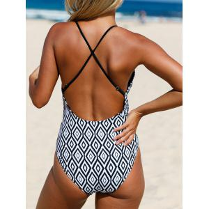 Strappy Cross Back One Piece Swimsuit - COLORMIX L