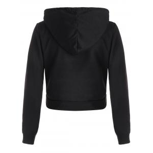 Crop Pullover Graphic Hoodie - BLACK M