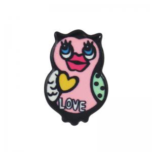 Funny Duck Owl Lips Brooch Set - COLORMIX
