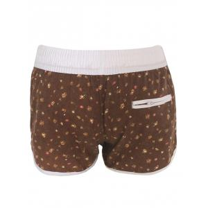 Printed Dolphin Swim Shorts - BROWN XL