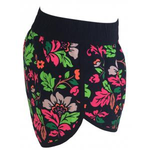 Printed Dolphin Swim Shorts - FLORAL S