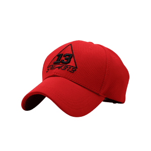 Trangle Numbers Embroidered Baseball Cap - RED