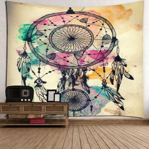 Dreamcathcer Print Waterproof Wall Art Tapestry -