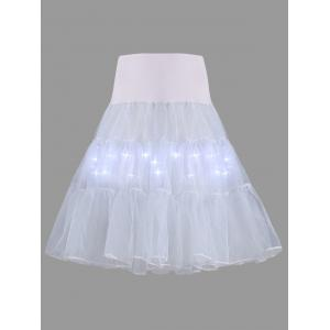 Flounce Light Up Bubble Cosplay Jupe - Gris Clair M