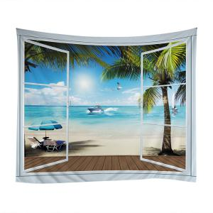 Belcony Beach Print Tapestry Wall Hanging Art Decoration -