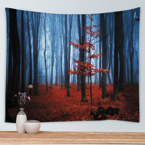 Maple Forest Print Tapestry Wall Hanging Art Décoration - Rouge