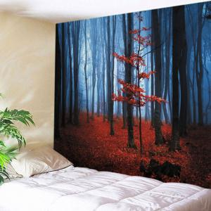 Maple Forest Print Tapestry Wall Hanging Art Decoration - Red - W91 Inch * L71 Inch