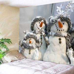 Snowmen Wall Art Decorative Throw Tapestry