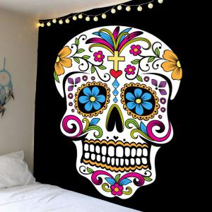 Home Decor Skull Floral Print Wall Hanging Tapestry