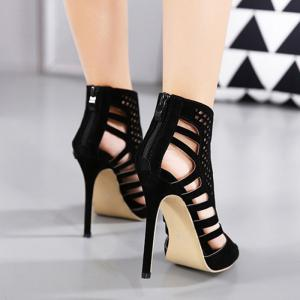Cutout High Heel Peep Toe Sandals -