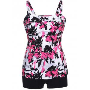Twist Front Printed Tankini Set -