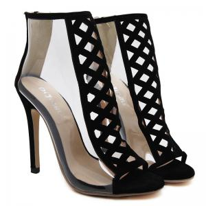 Crisscross Cutout High Heel Peep Toe Sandals -