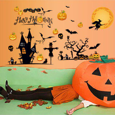 Chic Party Decor Removable Halloween Wall Sticker - 60*90CM COLORMIX Mobile