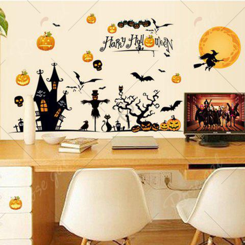 Affordable Party Decor Removable Halloween Wall Sticker - 60*90CM COLORMIX Mobile