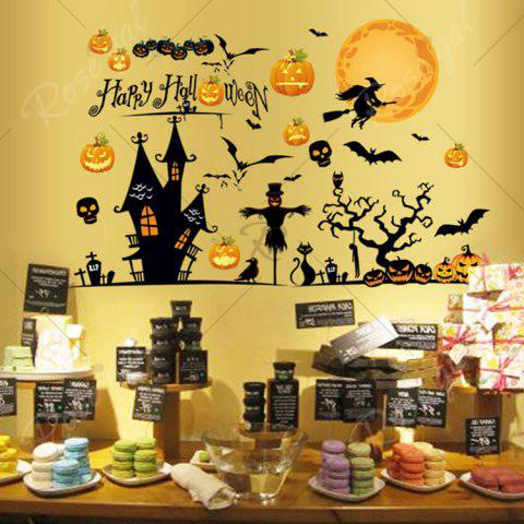Discount Party Decor Removable Halloween Wall Sticker - 60*90CM COLORMIX Mobile