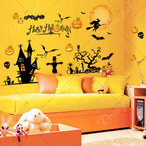 Hot Party Decor Removable Halloween Wall Sticker - 60*90CM COLORMIX Mobile