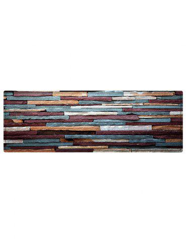 Online Brick Wall Pattern Anti-skid Water Absorption Area Rug - W24 INCH * L71 INCH RED BROWN Mobile