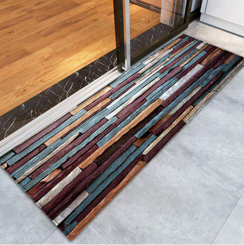 Shop Brick Wall Pattern Anti-skid Water Absorption Area Rug - W24 INCH * L71 INCH RED BROWN Mobile