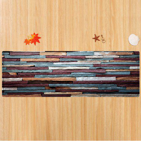 Sale Brick Wall Pattern Anti-skid Water Absorption Area Rug - W24 INCH * L71 INCH RED BROWN Mobile