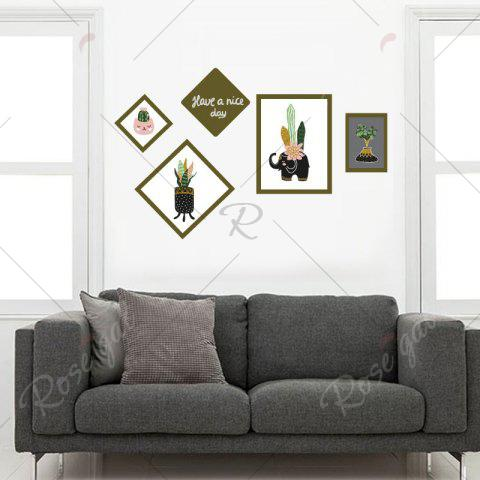 Outfit Botanical Removable Photo Frame Wall Art Sticker - 50*70CM COLORMIX Mobile