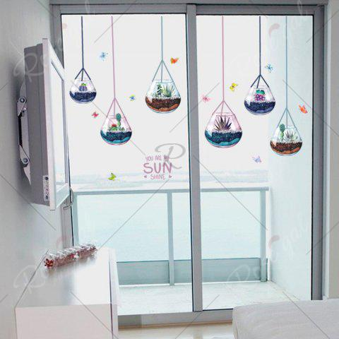 Affordable Removable Decoration Hanging Plants Wall Sticker - 50*70CM COLORMIX Mobile