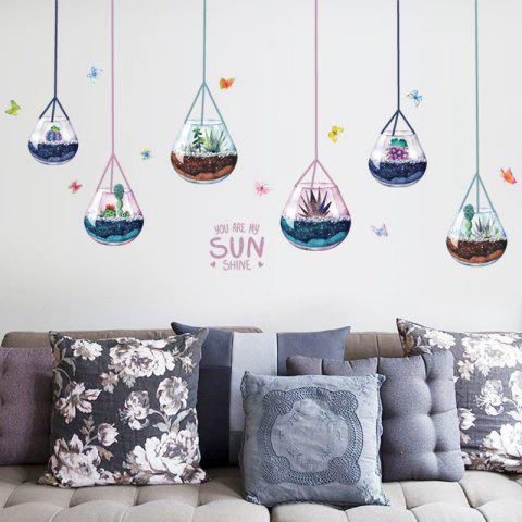 Discount Removable Decoration Hanging Plants Wall Sticker - 50*70CM COLORMIX Mobile