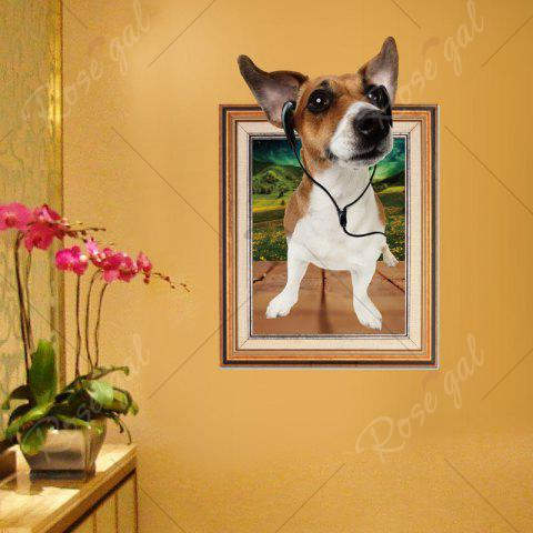 Chic 3D Dog Photo Frame Kids Room Wall Sticker - 60*90CM BROWN Mobile