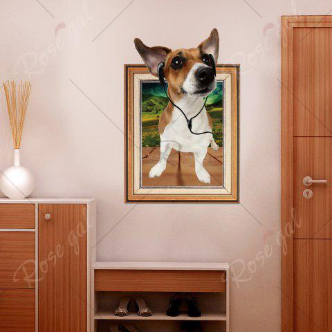 Discount 3D Dog Photo Frame Kids Room Wall Sticker - 60*90CM BROWN Mobile