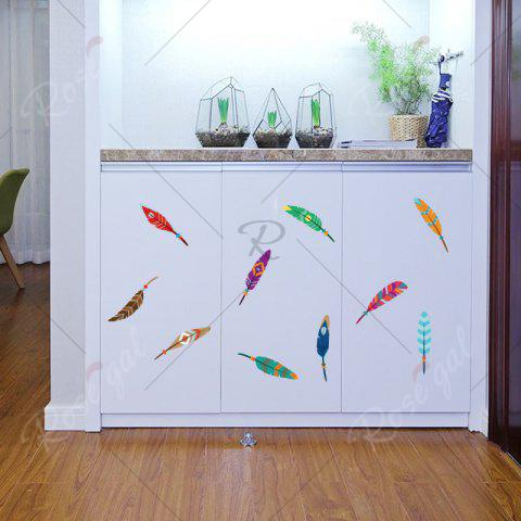 Discount Colorful Feather Vinyl Kids Wall Sticker - 30*60CM COLORMIX Mobile