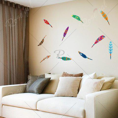Fashion Colorful Feather Vinyl Kids Wall Sticker - 30*60CM COLORMIX Mobile