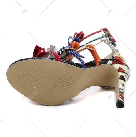 Outfit Bowknot Strappy Buckled Gladiator Sandals - 37 NUDE Mobile