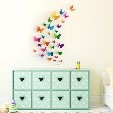 Online Home Decor 3D Butterfly DIY Wall Sticker Set - COLORMIX  Mobile