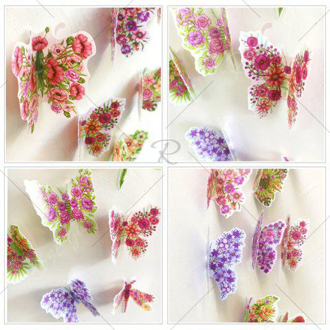 Shops Pastoral DIY 3D Butterfly Bedroom Wall Sticker Set - PATTERN B COLORMIX Mobile