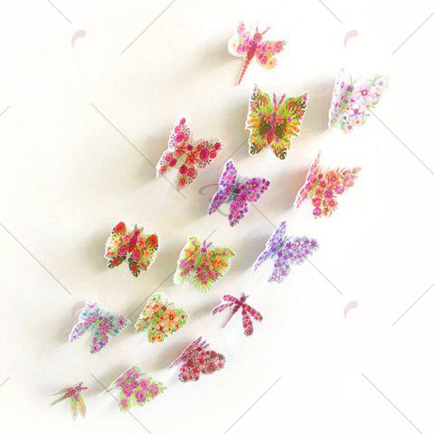 Hot Pastoral DIY 3D Butterfly Bedroom Wall Sticker Set - PATTERN B COLORMIX Mobile