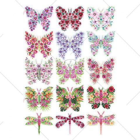 Best Pastoral DIY 3D Butterfly Bedroom Wall Sticker Set - PATTERN B COLORMIX Mobile