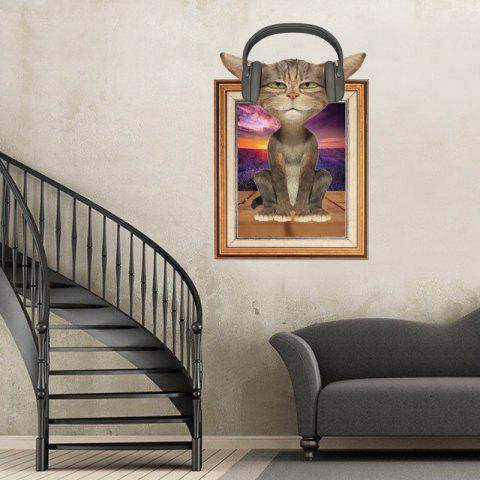 Discount 3D Cat Photo Frame Kids Room Wall Sticker - 60*90CM COLORMIX Mobile