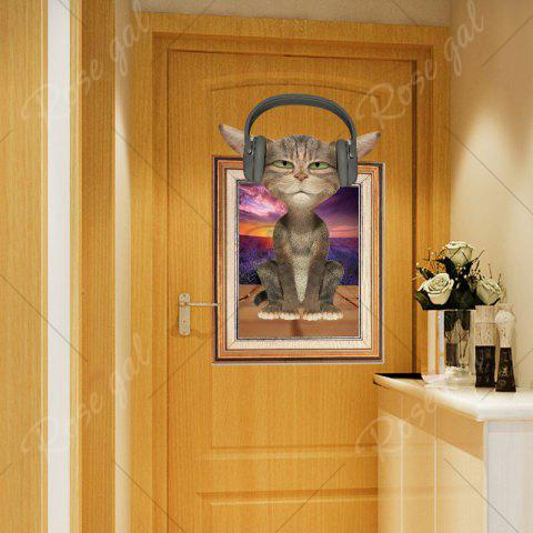 New 3D Cat Photo Frame Kids Room Wall Sticker - 60*90CM COLORMIX Mobile