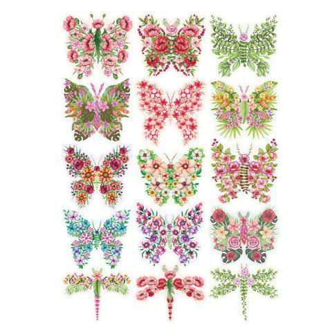 Hot Pastoral DIY 3D Butterfly Bedroom Wall Sticker Set - PATTERN A COLORMIX Mobile