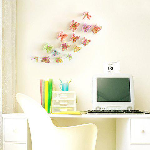 Latest Pastoral DIY 3D Butterfly Bedroom Wall Sticker Set - PATTERN A COLORMIX Mobile