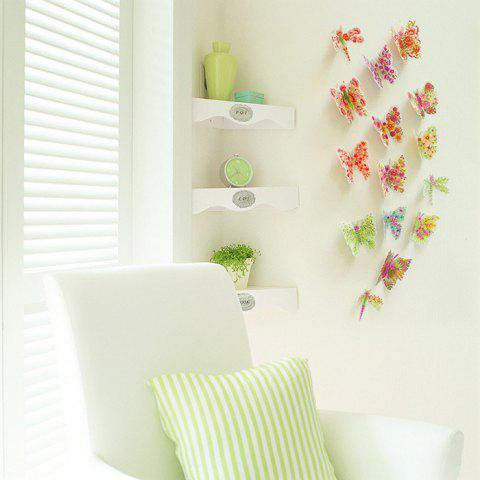 Outfits Pastoral DIY 3D Butterfly Bedroom Wall Sticker Set - PATTERN A COLORMIX Mobile