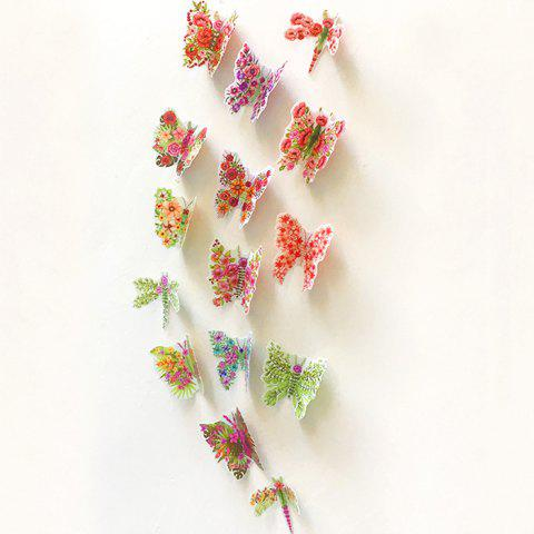 Chic Pastoral DIY 3D Butterfly Bedroom Wall Sticker Set - PATTERN A COLORMIX Mobile